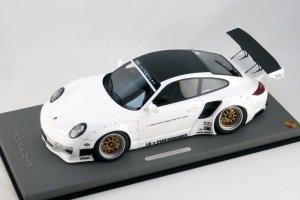 画像1: Autobarn 1/18 Porsche 911 Liberty Walk White/Black Roof (ケース無)